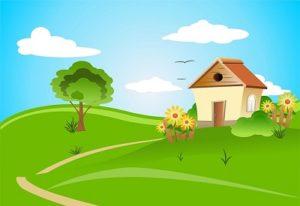 placera hus på tomten